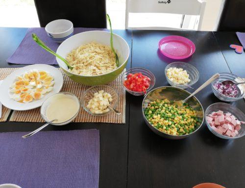Nudelsalat zum selbst zusammenbauen